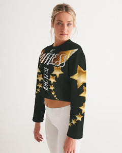Limitless Dark Out Women's Cropped Sweatshirt