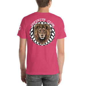 INFINITE LION PINK WHITE DESIGNS SHORT-SLEEVE UNISEX T-SHIRT