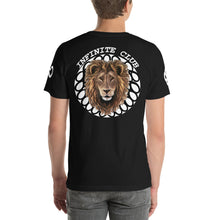 INFINITE LION RED DESIGN WHITE DESIGNS SHORT-SLEEVE UNISEX T-SHIRT