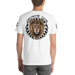 INFINITE LION ORIGINAL DESIGN BLACK DESIGNS SHORT SLEEVE UNISEX T-SHIRT