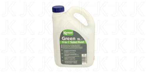 Kampa 2-in-1 Green 2 Litre Toilet Fluid
