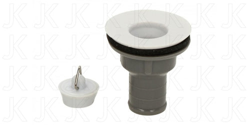Sink Waste and Plug 3/4 Straight Outlet
