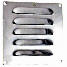 Stainless Steel Louvered Vent 120x120mm