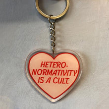 Load image into Gallery viewer, Heteronormativity Is A Cult Keychain