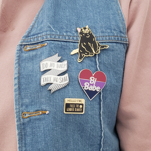 Hello I'm- Fuck the Gender Binary Enamel Pin