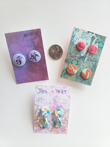 Polymer Clay Earrings - Abstract Series