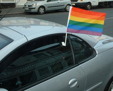 Load image into Gallery viewer, Rainbow Pride Car Flag