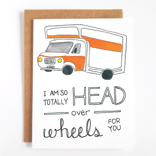 Head Over Wheels For You Greeting Card