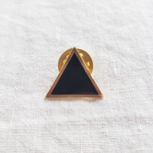 Black Triangle Enamel Pin