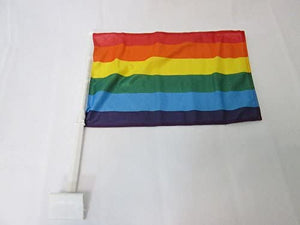 Rainbow Pride Car Flag