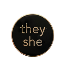 Load image into Gallery viewer, Pronoun Pins (Enamel)