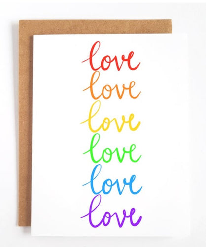 Love in Rainbows Greeting Card