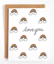 Load image into Gallery viewer, Love You Rainbows Greeting Card