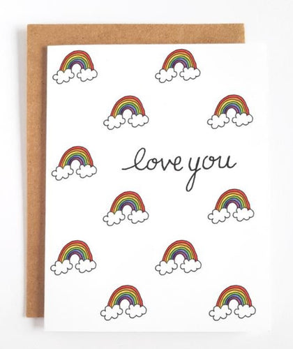 Love You Rainbows Greeting Card