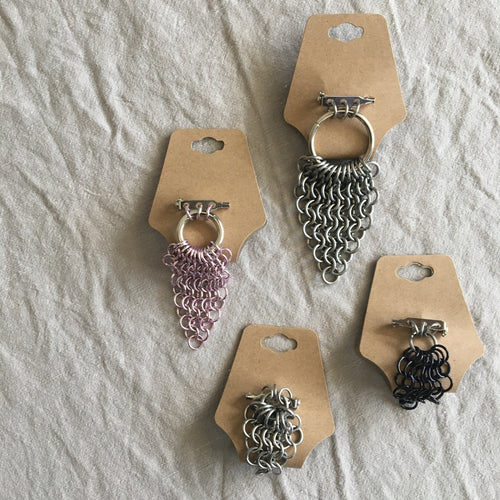 Chain Mail Brooches