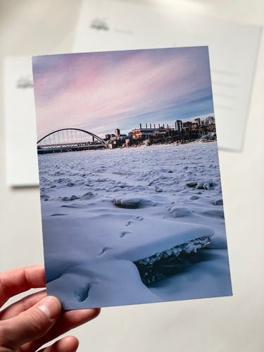 Walterdale Bridge Sunset Postcard