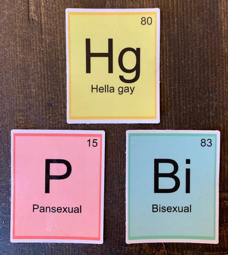 Periodic Table Element Sticker