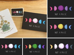 Not A Phase - Phases of the Moon Sticker
