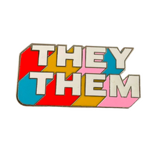 Load image into Gallery viewer, They/Them Enamel Pronoun Pin