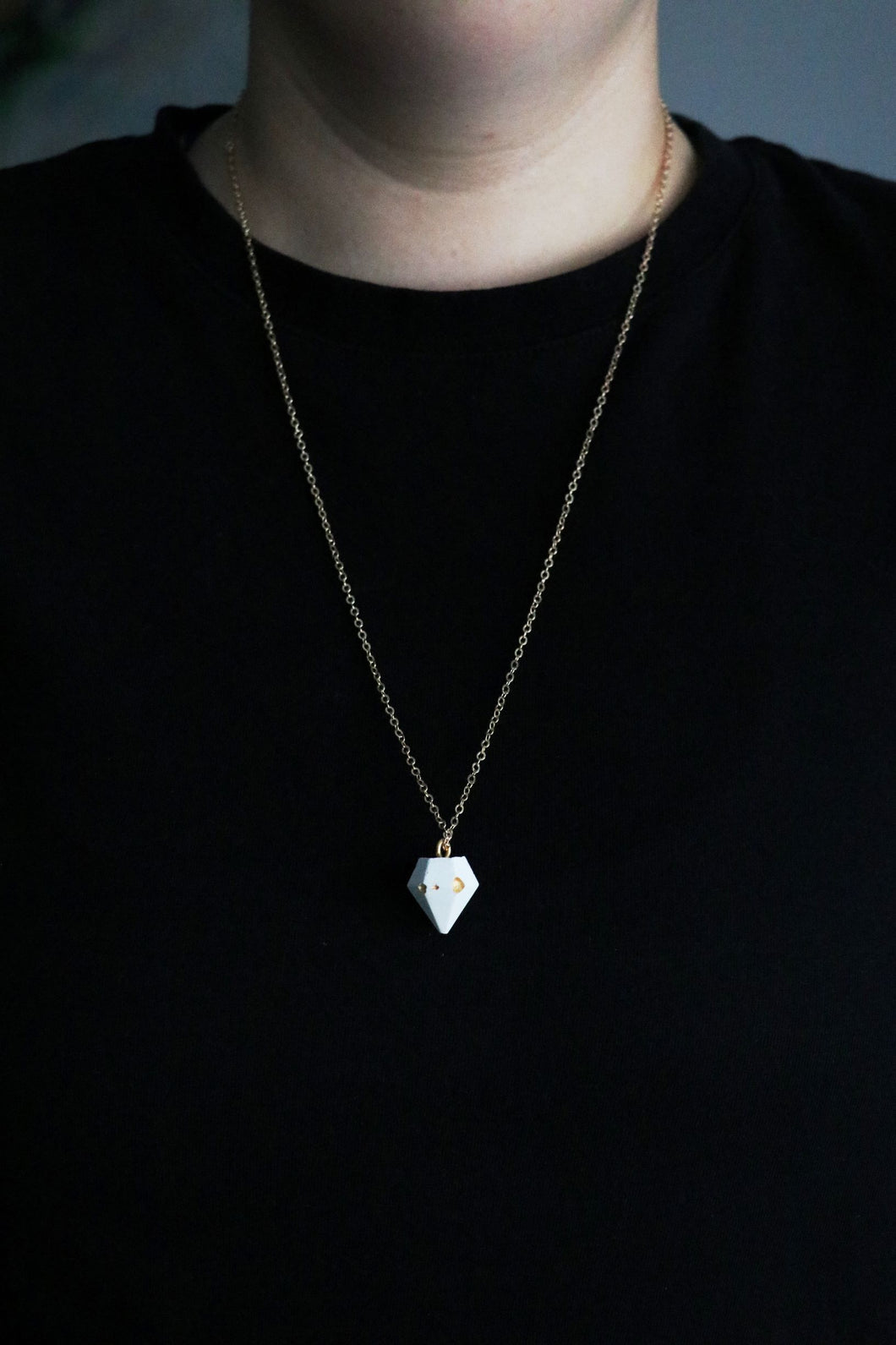 Concrete Diamond Necklace