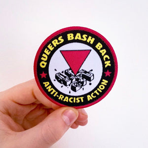 Queers Bash Back Anti-Racist Action Patch