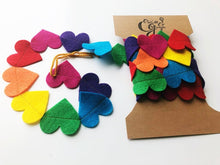 Load image into Gallery viewer, Rainbow Hearts Felt Garland
