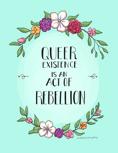 Queer Existence Postcard, Print or Magnet
