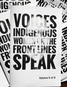 Voices Zine: Indigenous Women on the Front Lines Speak