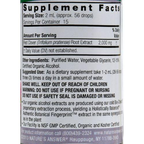 Nature's Answer Red Clover Flowering Tops - 1 fl oz