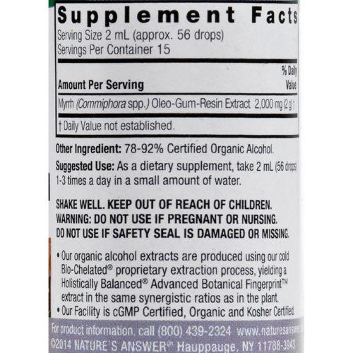 Nature's Answer Myrrh Oleo-Gum-Resin - 1 fl oz