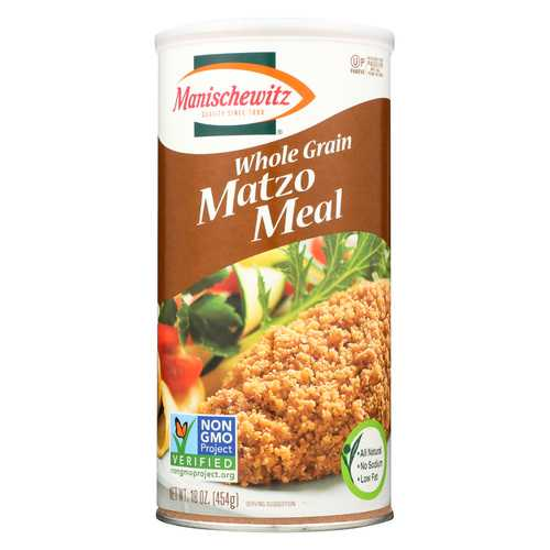 Manischewitz Whole Grain Matzo Meal - Case of 12 - 1 lb.