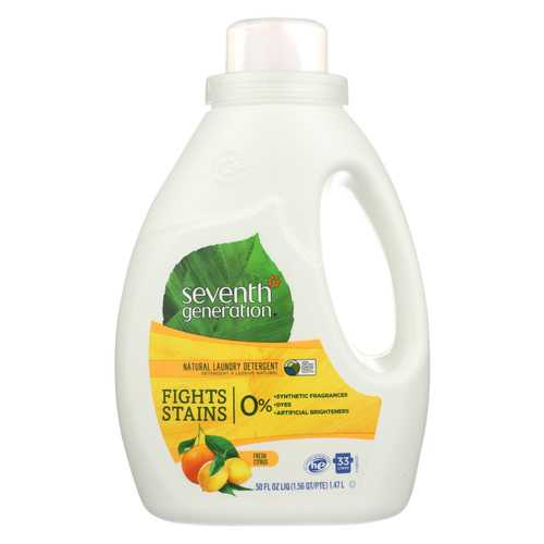 Seventh Generation Natural Laundry Detergent - Fresh Citrus - Case of 6 - 50 Fl oz.