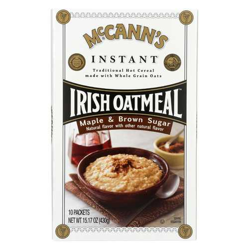 McCann's Irish Oatmeal Instant Irish Oatmeal - Maple Brown Sugar - Case of 12 - 15.17 oz.