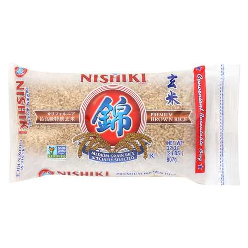 Nishiki Premium Brown Rice - Case of 12 - 2 lb.