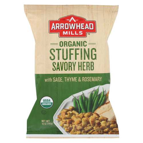 Arrowhead Mills Organic Savory Herb Stuffing Mix - Case of 12 - 10 oz
