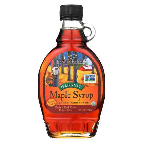 Coombs Family Farms Organic Maple Syrup - Case of 12 - 8 Fl oz.