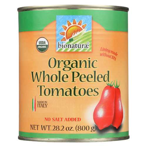 Bionaturae Organic Whole Peeled Tomatoes - Case of 12 - 28.2 oz.