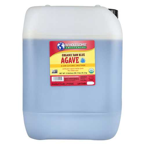 Wholesome Sweeteners Blue Agave - Sweeteners - Case of 1 - 5 Gal