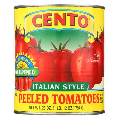 Cento Tomatoes - Italian Plum with Basil - Case of 12 - 28 oz