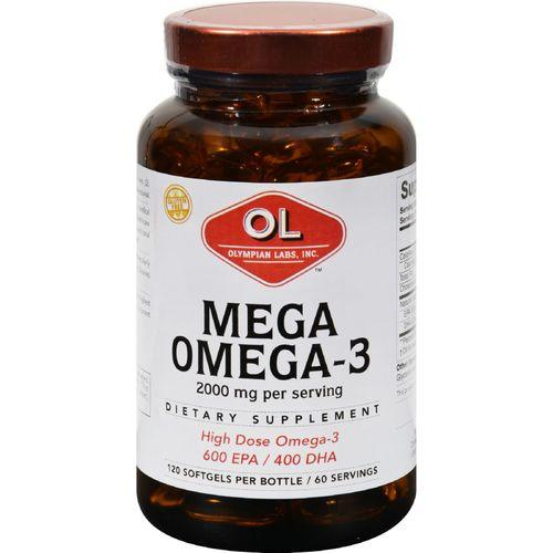 Olympian Labs Mega Omega-3 Fish Oils - 2000 mg - 120 Softgels