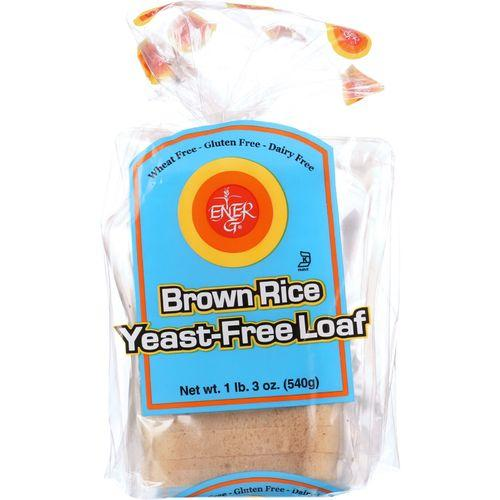 Ener-G Foods Loaf - Brown Rice - Yeast-Free - 19 oz - case of 6