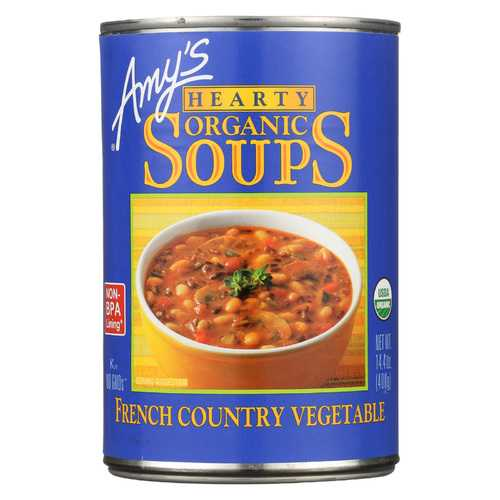 Amy's Organic Soup - Vegetarian Hearty French Country - Case of 12 - 14.4 oz