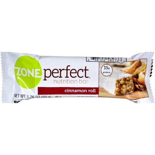 Zone Nutrition Bar - Cinnamon Roll - Case of 12 - 1.76 oz - Vitamins Pros
