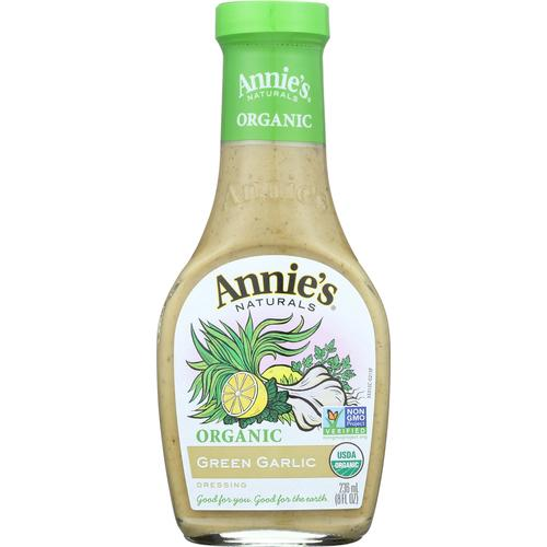Annie's Naturals Organic Dressing Green Garlic - Case of 6 - 8 fl oz. - Vitamins Pros