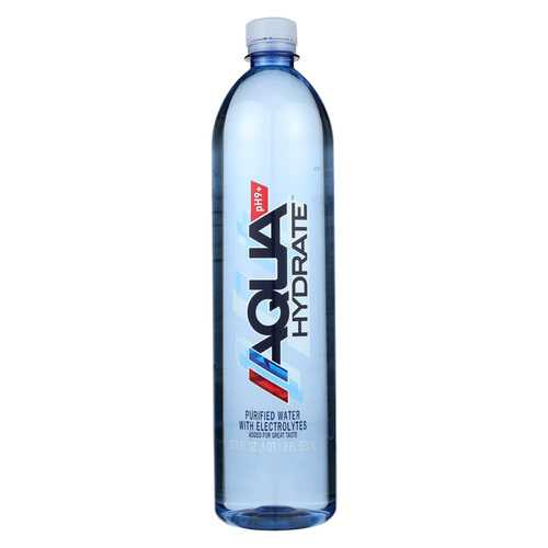 Aqua Hydrate Purified Water - Case of 12 - 33.8 Fl oz.
