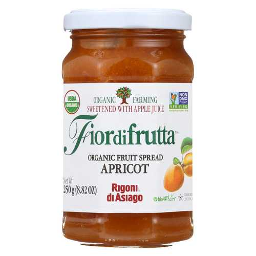 Fiordifrutta Organic Fruit Spread Apricot - Fruit Spread Apricot - Case of 6 - 8.82 oz.