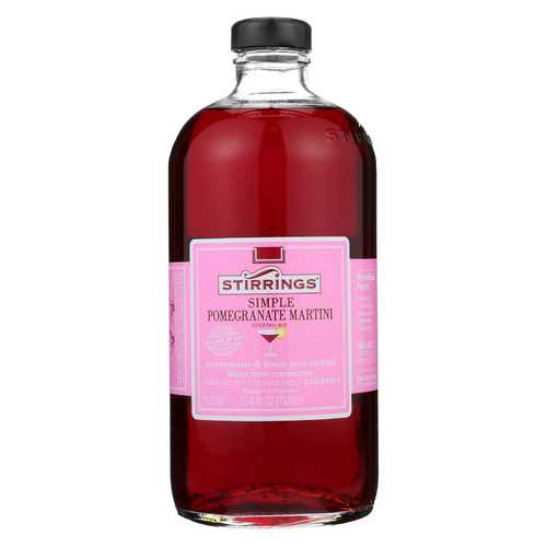 Stirrings Cocktail Mixer - Pomegranate Martini - Case of 6 - 750 ml
