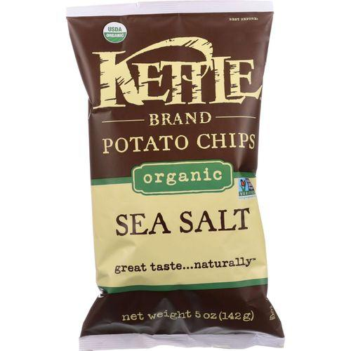 Kettle Brand Potato Chips - Organic - Sea Salt - 5 oz - case of 15