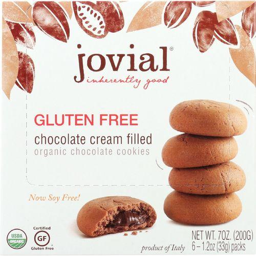 Jovial Cookies - Organic - Chocolate Cream - Gluten Free - 7 oz - case of 10
