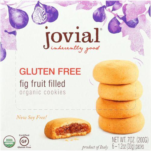 Jovial Cookie - Organic - Fig Fruit Filled - Gluten Free - 7 oz - case of 10